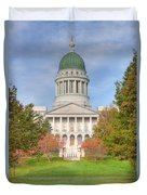 Maine State House I Duvet Cover