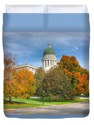 Maine State House Vii Duvet Cover