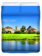 Maisemore Court And Church 2 Duvet Cover