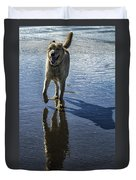 Maisie At The Beach Duvet Cover