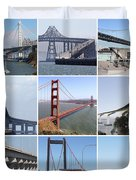 Majestic Bridges Of The San Francisco Bay Area Duvet Cover