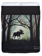 Majestic Bull Moose Duvet Cover