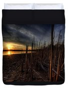 Majestic Lake Sunset Duvet Cover
