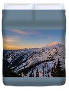 Majestic Mount Baker Sunrise Light Duvet Cover