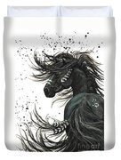 Majestic Spirit Horse  Duvet Cover by AmyLyn Bihrle
