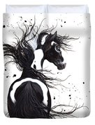 Majestic Pinto Horse Duvet Cover