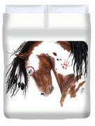 Majestic Pinto Horse 129 Duvet Cover