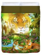 Majestic Tiger Grotto Duvet Cover