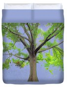 Majestic Tree With Birds Nest Duvet Cover