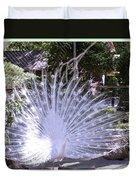 Majestic White Peafowl Duvet Cover