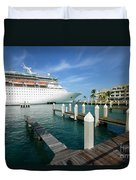 Majesty Of The Seas Docked At Key West Florida Duvet Cover