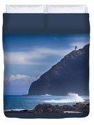 Makapuu Point Lighthouse- Oahu Hawaii Duvet Cover