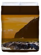 Makapuu Point Lighthouse- Oahu Hawaii V4 Duvet Cover
