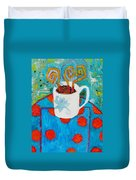 Coffee  By Janelle Dey Duvet Cover