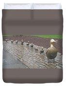 Make Way For Ducklings Duvet Cover by Barbara McDevitt