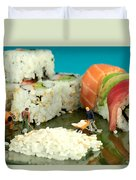 Making Sushi Little People On Food Duvet Cover