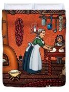 Making Tortillas Duvet Cover