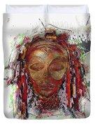 Makonde Mapiko - Lipiko Mask Duvet Cover