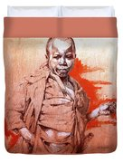 Malawi Child Sketch Duvet Cover