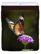 Malay Lacewing On A Flower  Duvet Cover