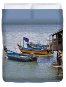 Malaysian Fishing Jetty Duvet Cover