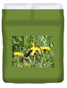 Male American Goldfinch Camouflage Duvet Cover