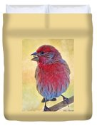 Male Housefinch - Digital Paint Duvet Cover