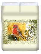 Male Housefinch Photoart Duvet Cover