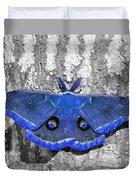 Male Moth - Brilliant Blue Duvet Cover