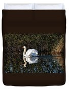Male Mute Swan Duvet Cover