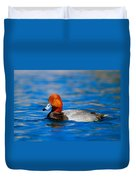 Male Red Head Duck Duvet Cover