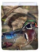 Male Wood Duck Dwf029 Duvet Cover