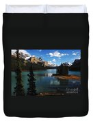 Maligne Lake Beauty Of The Canadian Rocky Mountains Duvet Cover