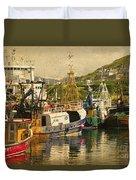 Mallaig Harbourside  Duvet Cover