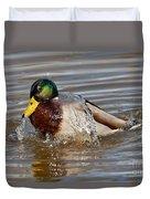 Mallard Drake Bathing Duvet Cover