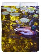 Mallard Duck On Pond 2 Duvet Cover