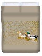 Mallard Ducks Pair Duvet Cover