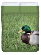 Mallard In The Grass Duvet Cover