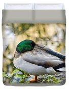 Mallard Napping Duvet Cover