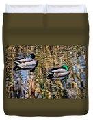 Mallards In The Reeds Duvet Cover