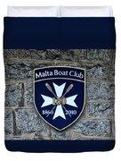 Malta Boat Club Duvet Cover