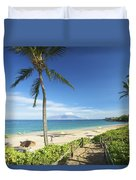 Maluaka Beach Park Duvet Cover