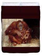 Mama N Baby Orangutan - 54 Duvet Cover