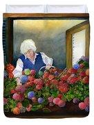 Mama's Window Garden Duvet Cover