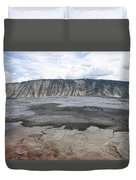 Mammoth Hot Spring Landscape Duvet Cover