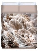 Mammoth Hot Springs Closeup Duvet Cover