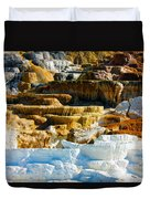 Mammoth Hot Springs Rock Formation No1 Duvet Cover