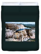 Mammoth Hot Springs Yellowstone Np Duvet Cover