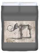 Mammoth Skeleton Duvet Cover
