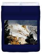 Mammoth Springs Yellowstone Steam Rising Duvet Cover